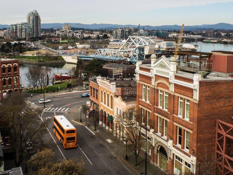 Victoria Blue Bridge stock foto