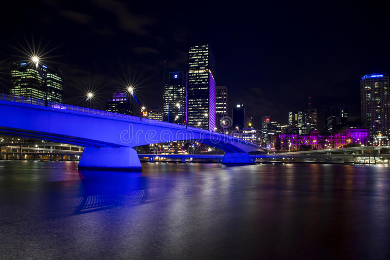 Victoria Bridge Brisbane River G20 photographie stock