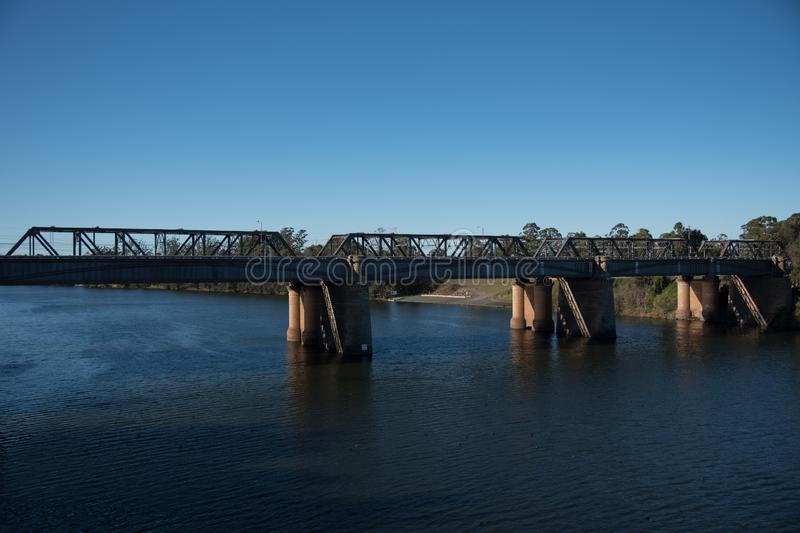 The Victoria Bridge, over Nepean River and officially known as The Nepean Bridge, is a heritage-listed former railway bridge. The Victoria Bridge, over Nepean royalty free stock images