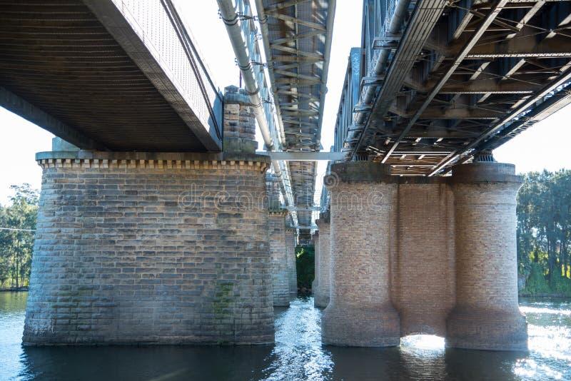 Victoria Bridge, over Nepean-Rivier en officieel gekend als Nepean-Brug, is een erfenis-vermelde vroegere spoorwegbrug royalty-vrije stock afbeeldingen
