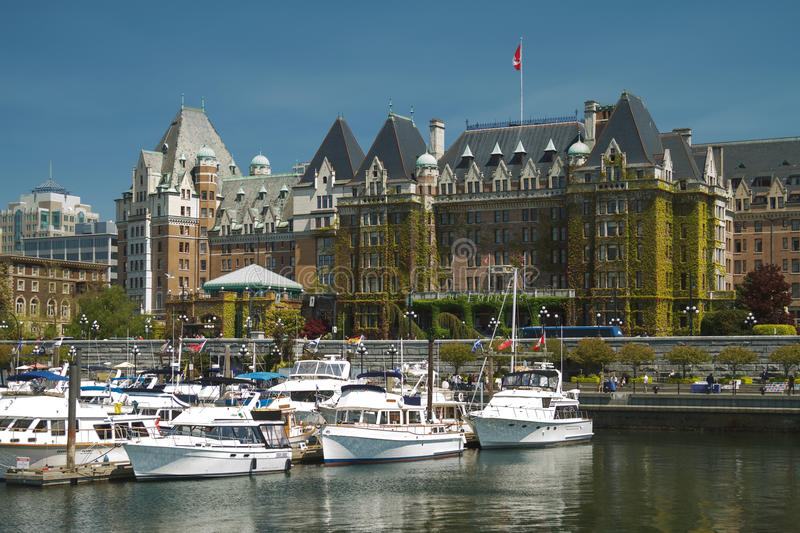 VICTORIA, BRITISH COLUMBIA, CANADA - MAY 19: The Fairmont Empress Hotel facade on May 19, 2011 in Victoria, British Columbia, Ca. Nada. It is one of the oldest stock photos
