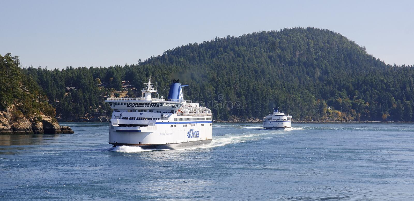 VICTORIA, CANADA - AUGUST 29, 2016: BC Ferries Victoria-Vancouve royalty free stock images
