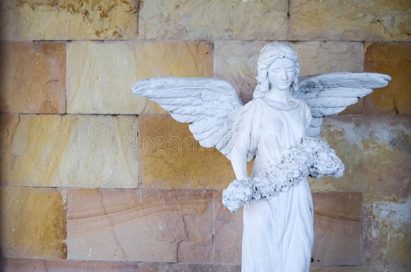 Victoria coa alas de la pequeña reproducción del samothrace fotografía de archivo