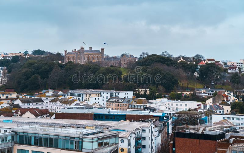Victoria College, St. Helier, Jersey. Jersey, Channel Islands - December 31 2018: Victoria College, St. Helier, Jersey Channel Islands United Kingdom Europe royalty free stock photos