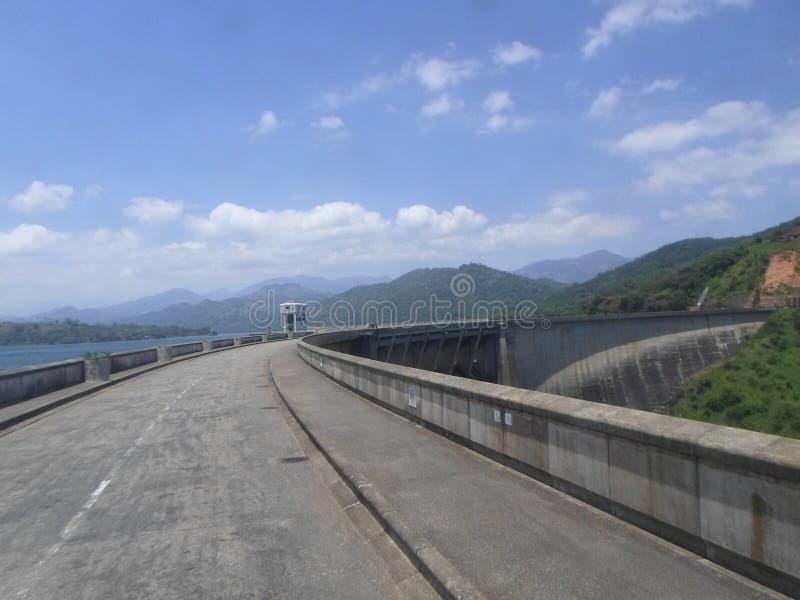 Victoria-dam Sri Lanka royalty-vrije stock afbeeldingen