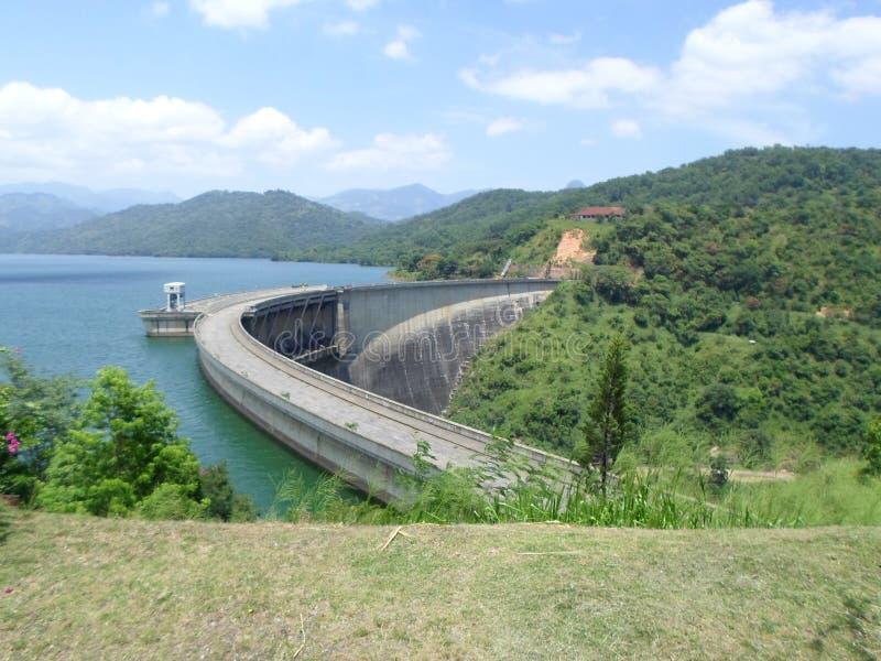 Victoria-dam Sri Lanka royalty-vrije stock foto