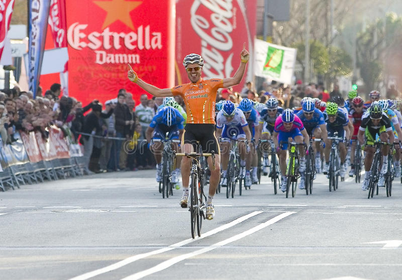 Victoria del ciclista foto de archivo libre de regalías