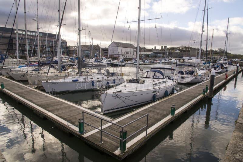 Victoria Dock - Caernarfon - Wales stockbild