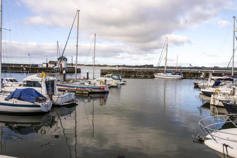Victoria Dock - Caernarfon - Wales lizenzfreie stockbilder