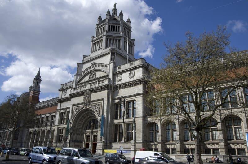 Victoria en Albert Museum, buitenkant stock foto