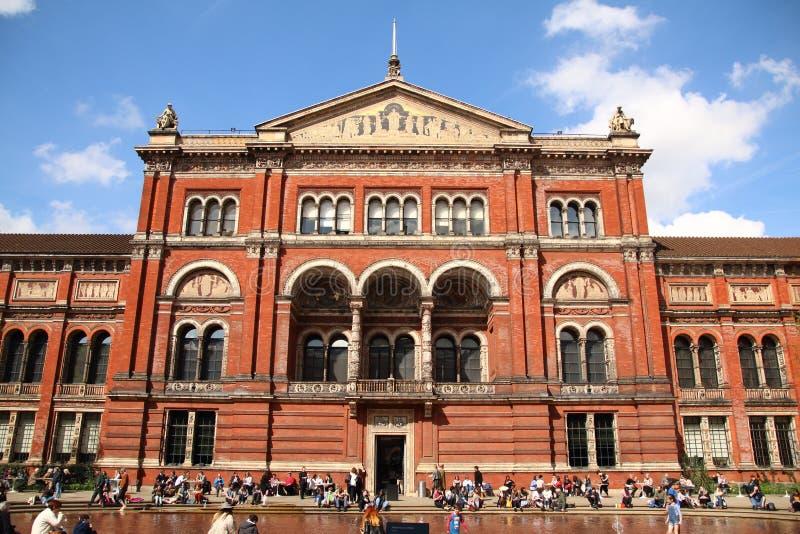Victoria en het museum Londen van Albert stock foto