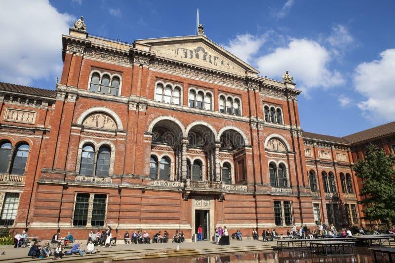 Victoria en het Museum van Albert in Londen stock afbeelding