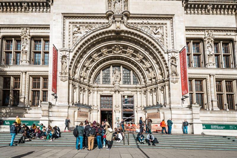 Victoria et Albert Museum à Londres, R-U image stock