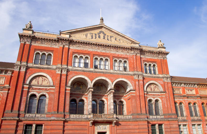 Victoria et Albert Museum dans Kensington, Londres images libres de droits