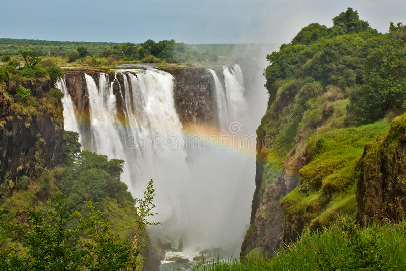 Victoria Falls, Ζιμπάπουε, κινηματογράφηση σε πρώτο πλάνο στοκ εικόνα