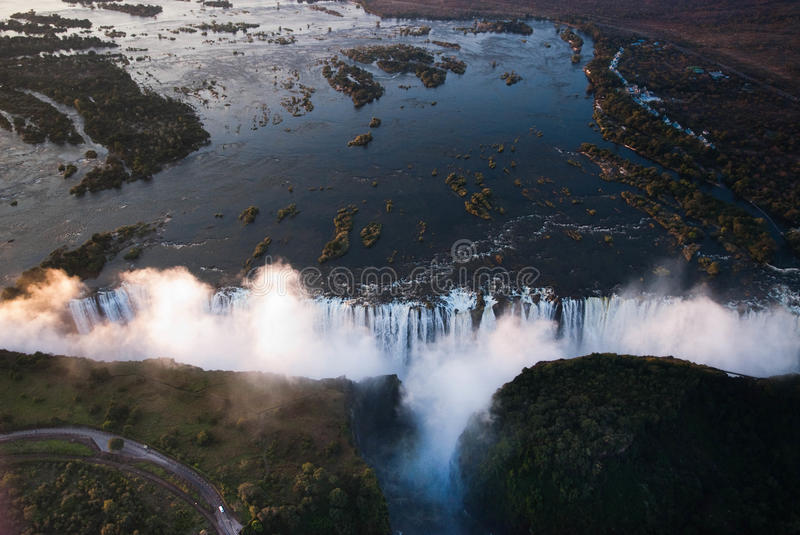 Download Victoria Falls Aerial Stock Photography - Image: 27128412