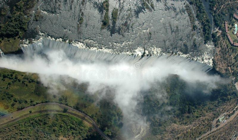 Victoria Falls - antennen beskådar royaltyfria bilder