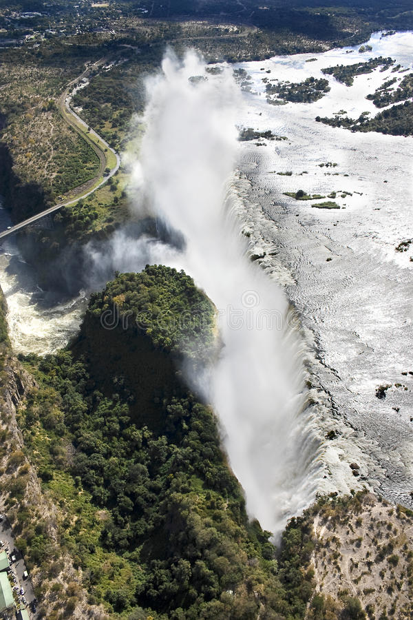 Victoria Falls auf Air stockbilder