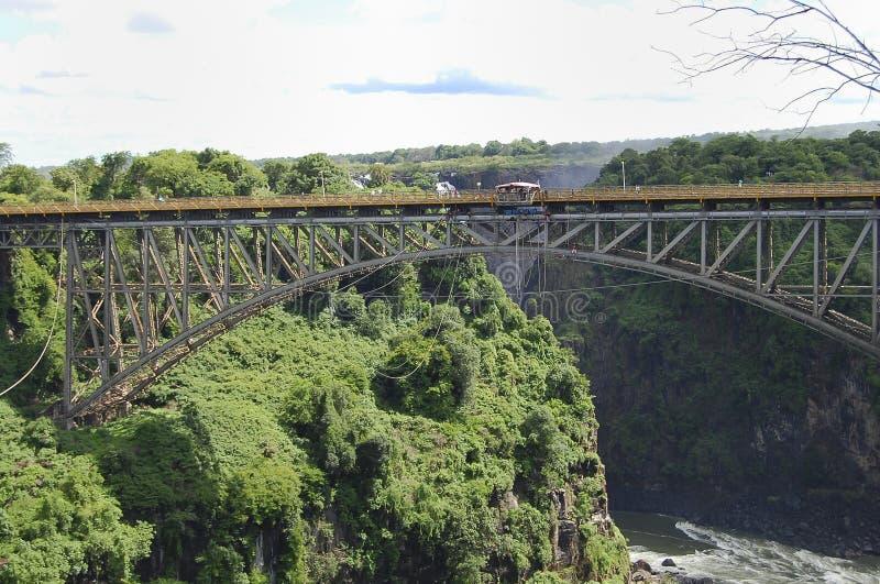 Victoria Falls Bridge - Zambia/Zimbabwe royalty-vrije stock fotografie