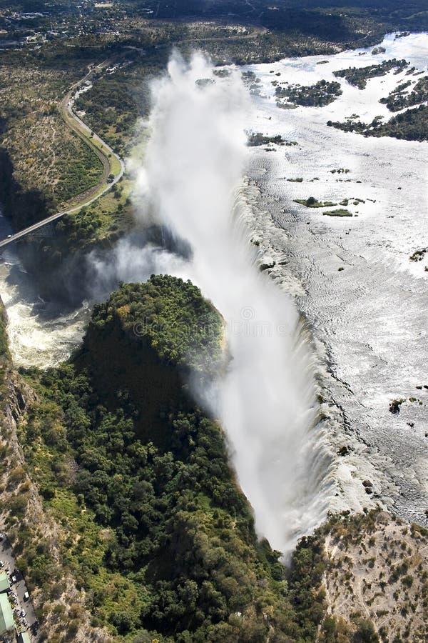 Victoria Falls da Air immagini stock