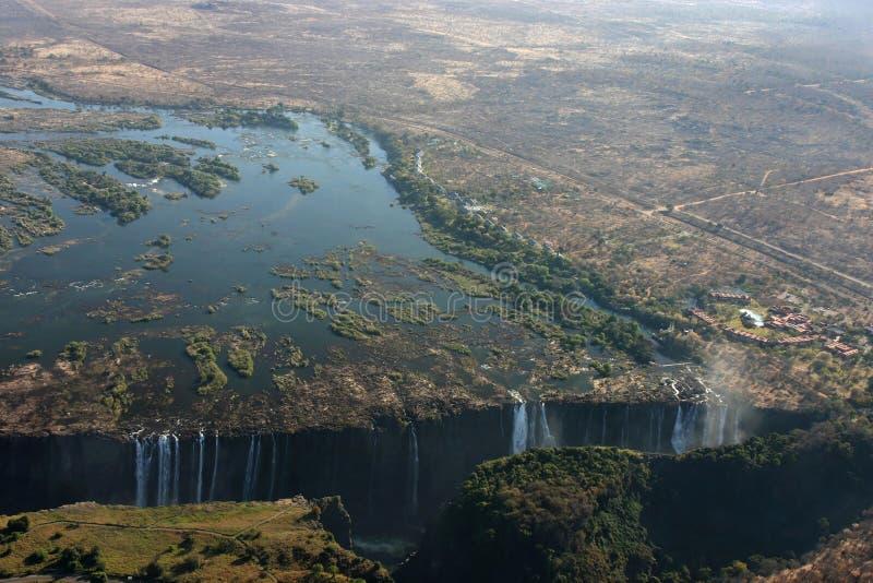 Victoria Falls del cielo imagen de archivo