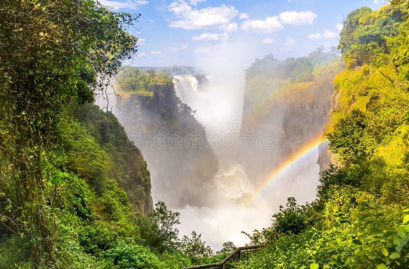 Victoria Falls Devils Cataract imagem de stock