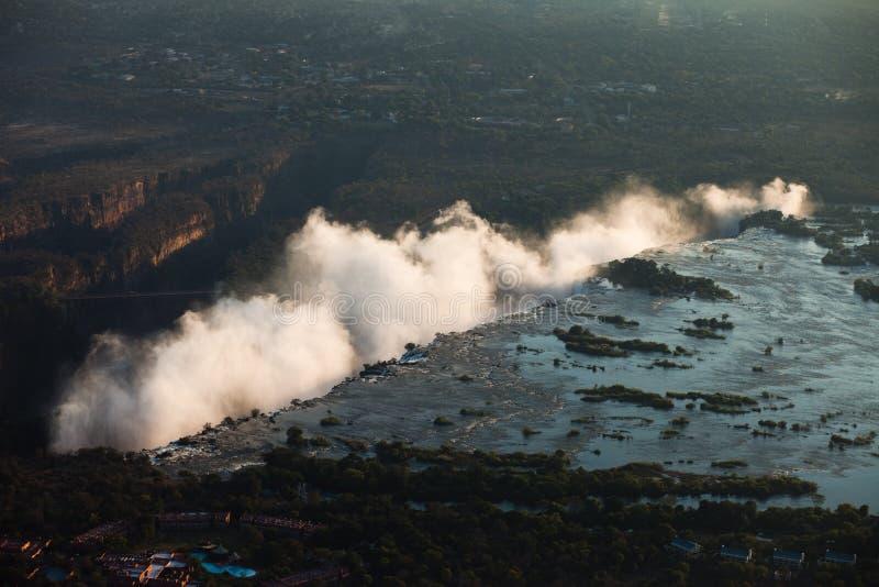 Victoria Falls do ar fotos de stock