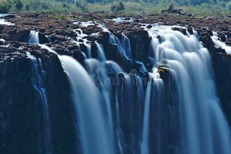 Victoria Falls, el río Zambezi, sitio del patrimonio mundial de la UNESCO, Zimbabwe África fotografía de archivo libre de regalías