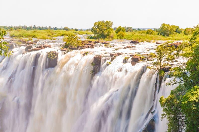Victoria Falls em Zimbabwe imagens de stock royalty free