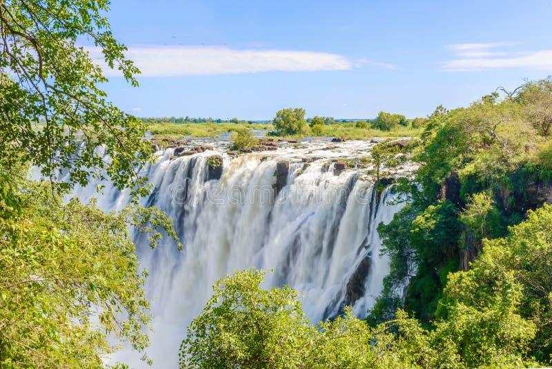 Victoria Falls em Zimbabwe fotografia de stock