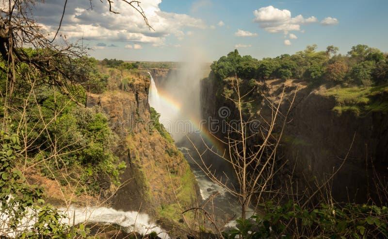 Victoria Falls en Zimbabwe imagen de archivo libre de regalías