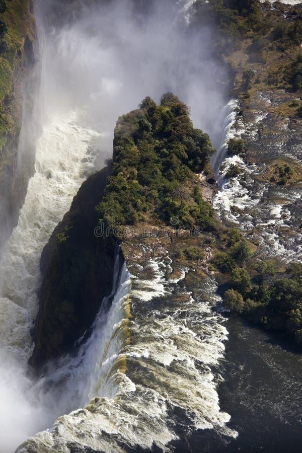 Victoria Falls - flyg- sikt fotografering för bildbyråer