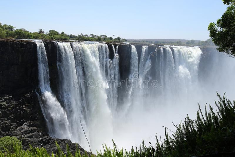 Victoria Falls, ground view from Zimbabwe side royalty free stock image