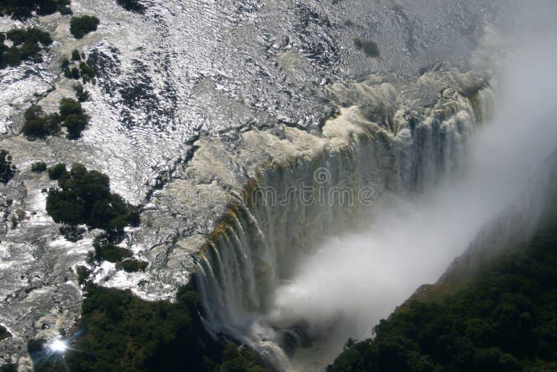 Victoria Falls. La Zambie photo stock
