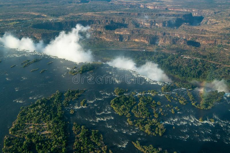 Victoria Falls Livingstone Zambia Africa imagem de stock