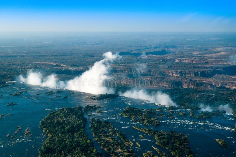 Victoria Falls Livingstone Zambia - 7 maravilhas do mundo foto de stock royalty free