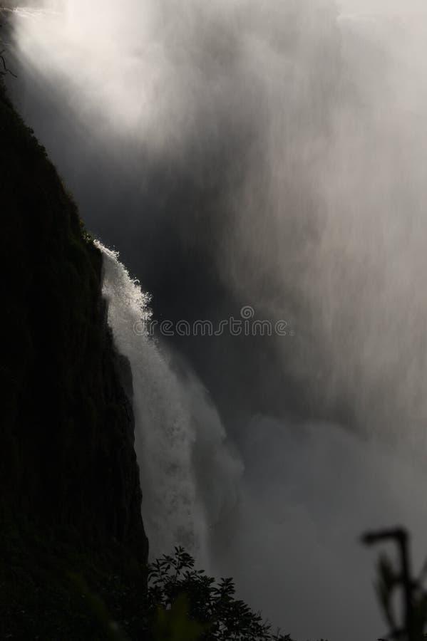 Victoria Falls, mistero selvaggio immagine stock