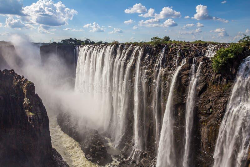 Victoria Falls na Zâmbia foto de stock