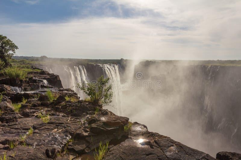 Victoria Falls na Zâmbia imagem de stock royalty free