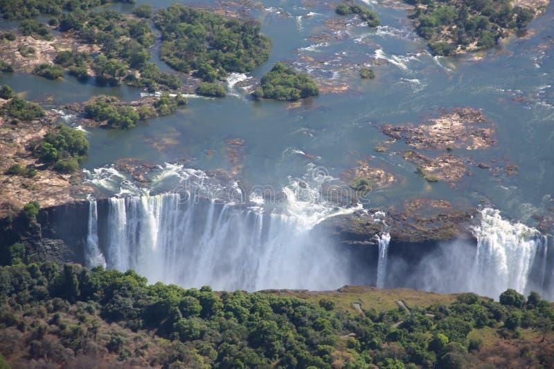Victoria Falls, vista aerea fotografia stock