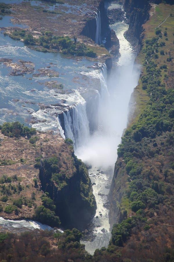 Victoria Falls, vista aerea fotografia stock libera da diritti