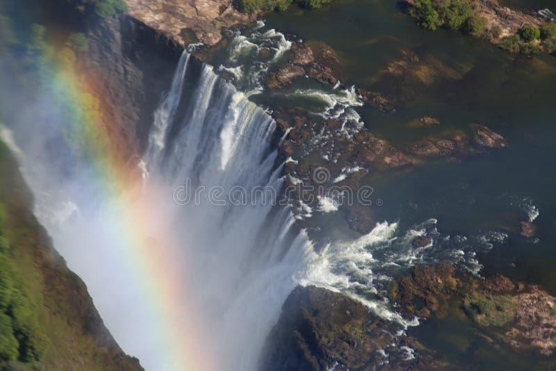 Victoria Falls, Vogelperspektive lizenzfreie stockfotos
