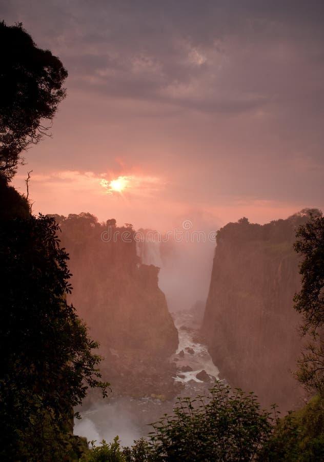 Victoria Falls In Zimbabwe. Royalty Free Stock Image