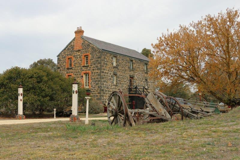 Victoria Flour Mills (1869) werd overstroomd in 1909 en werd gesloten in 1914 Het is nu een privé woonplaats royalty-vrije stock afbeelding