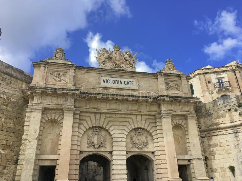 Victoria Gate, La Valeta, Malta imagen de archivo