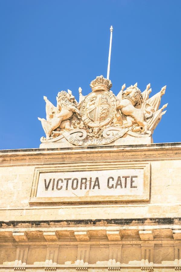 Victoria Gate - vieille ville médiévale de ville de La La Valette à Malte photos libres de droits