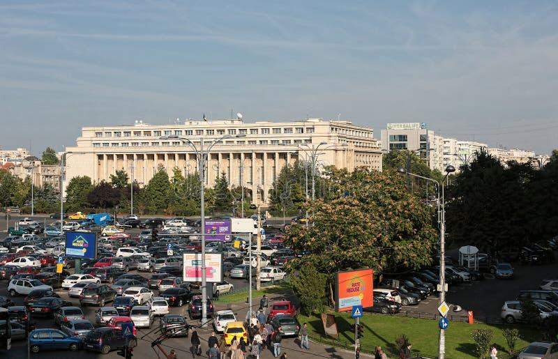 Victoria Government Palace Bucharest photos libres de droits