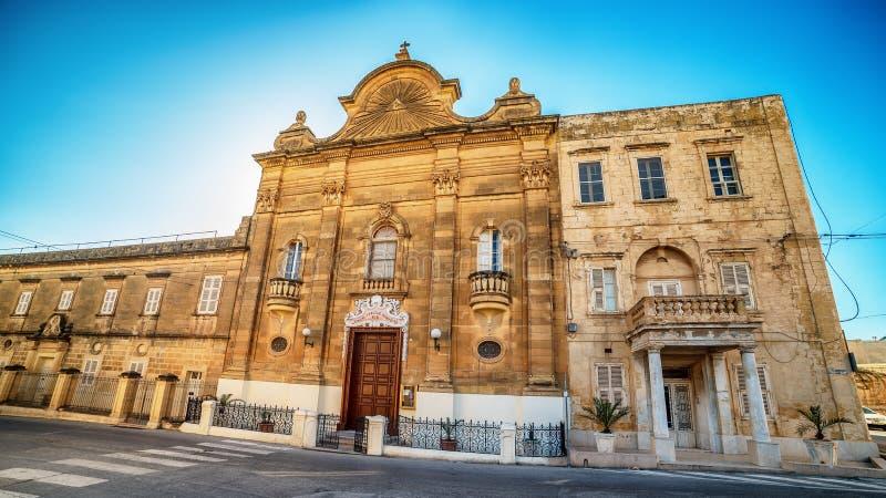 Victoria, Gozo-eiland, Malta: de Kerk van Onze Dame van Pompei stock foto