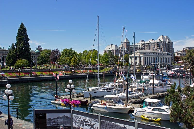 Victoria Harbor en la isla de Vancouver en Columbia Británica imagen de archivo libre de regalías