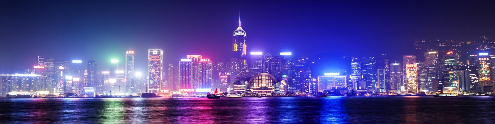Victoria harbor. HONG KONG - FEBRUARY 21: Victoria Harbor in Hong Kong on February, 21, 2013. The Victoria Harbour is world-famous for its stunning panoramic stock photography